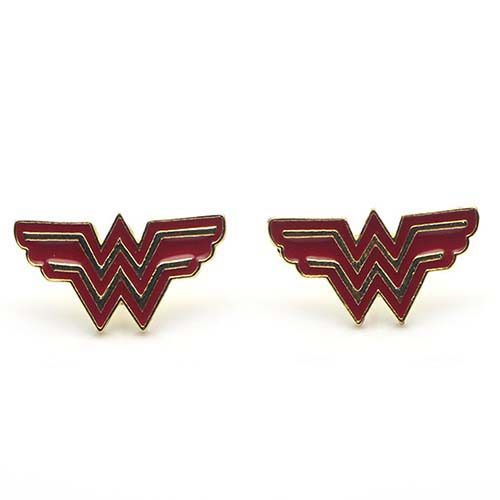 pendientes wonder woman logo dc comics