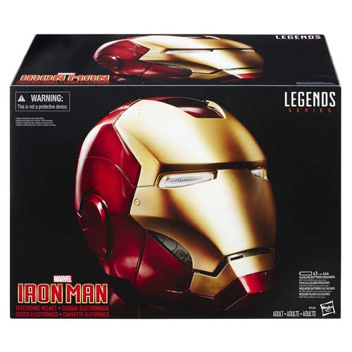 casco iron man marvel legends