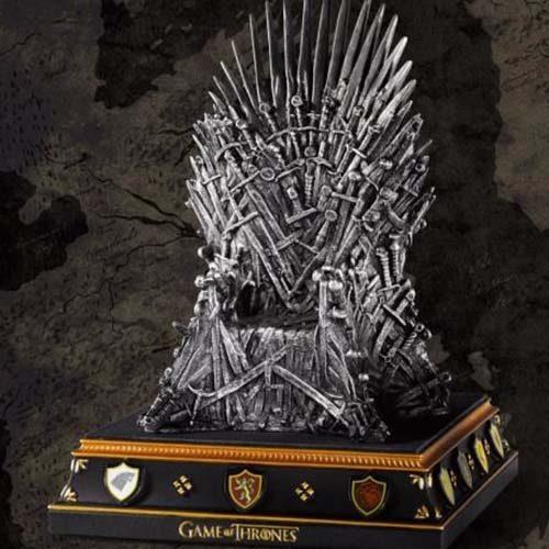 replica trono hierro juego tronos 19cm 2