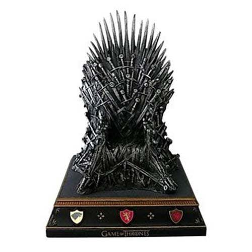 replica trono hierro juego tronos 19cm
