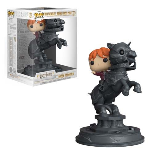 funko pop ron ridding chess movie moments harry potter
