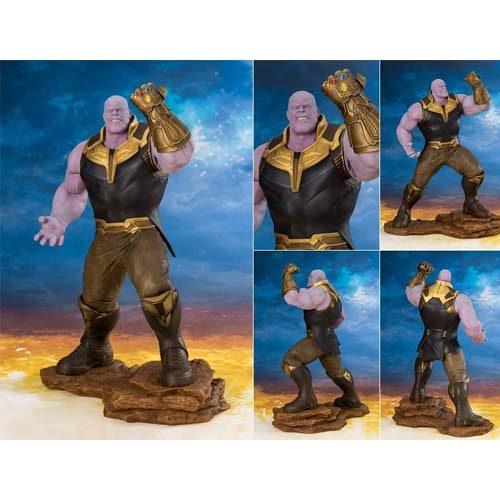 estatua thanos vengadores infinity war 28 cm