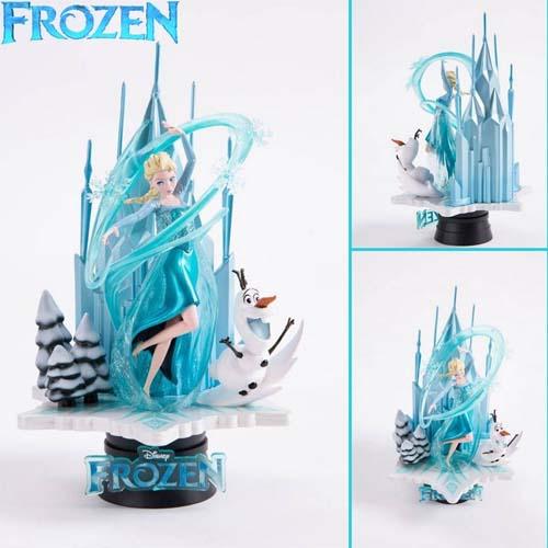 diorama frozen elsa y olaf disney