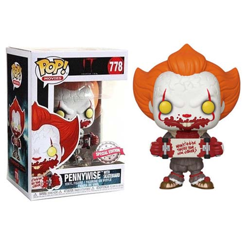 funko pop pennywise with skateboard it