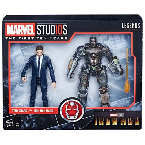 pack 2 figuras iron man and mark I