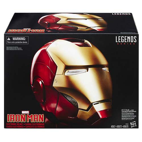 casco iron man marvel hasbro