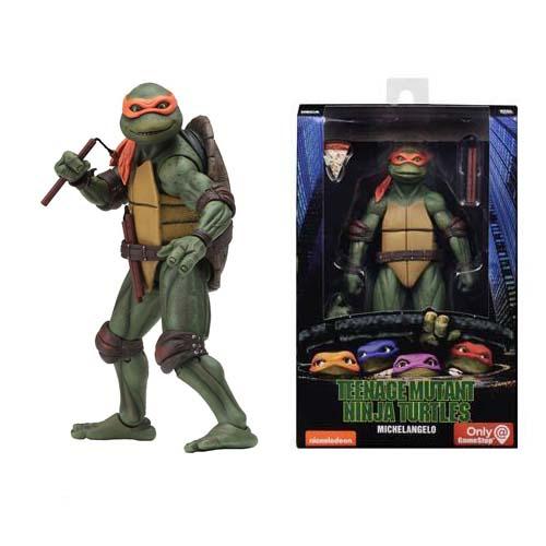 figura michelangelo tortugas ninja 18 cm neca