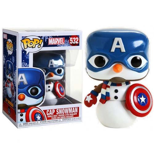 funko pop cap snowman marvel
