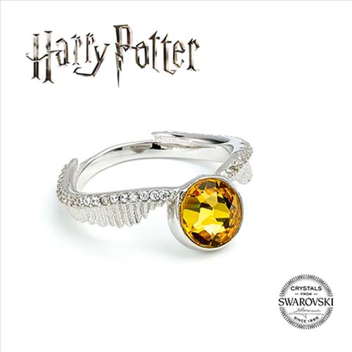 anillo snitch dorada harry potter