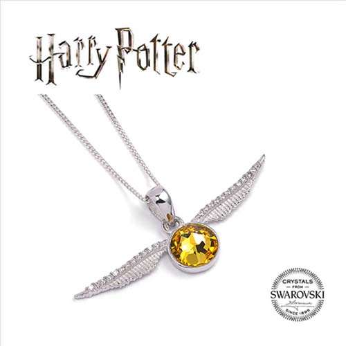 collar swarovski sntich dorada harry potter