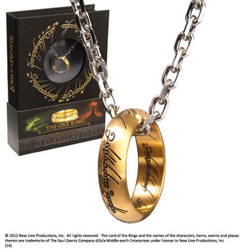 colgante réplica anillo único el señor de los anillos