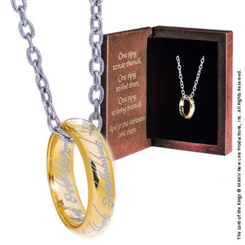 anillo único oro el señor de los anillos