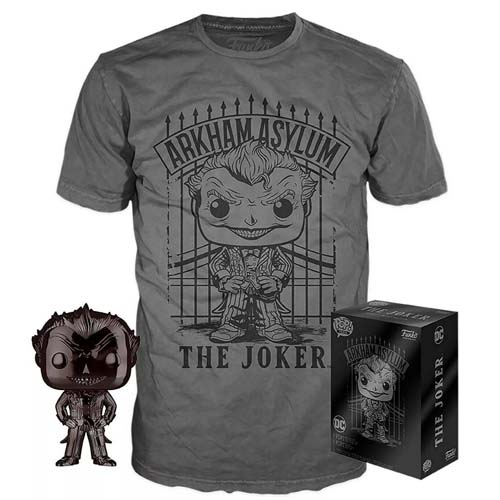 set funko and camiseta the joker dc comics