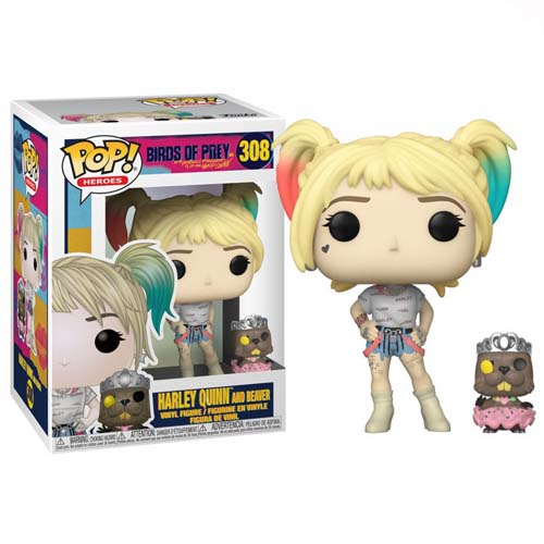 funko pop harley quinn and beaver dc comics