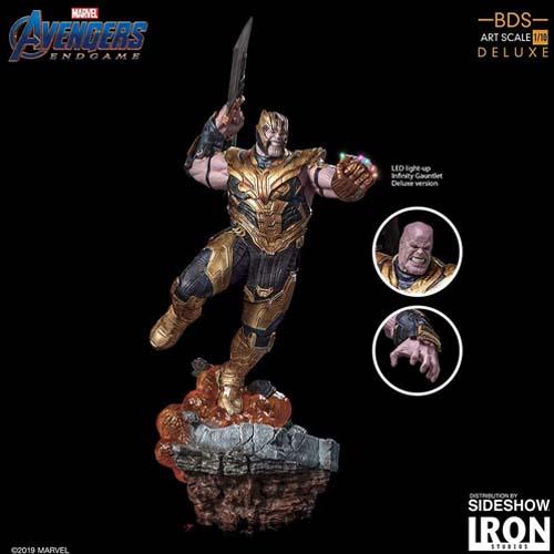figura thanos avengers endgame iron studios