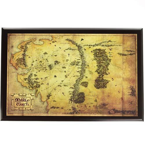 mapa de la tierra media el hobbit