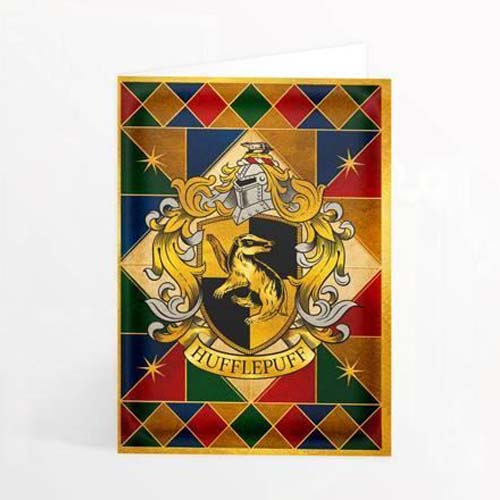 tarjeta de felicitación 3d hufflepuff harry potter