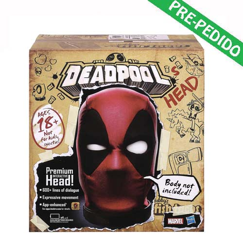 cabeza animatrónica deadpool marvel legends