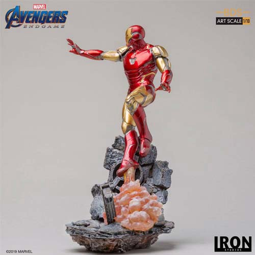 estatua iron man mark lxxxv vengadores endgame