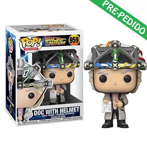 funko pop doc with helmet regreso al futuro