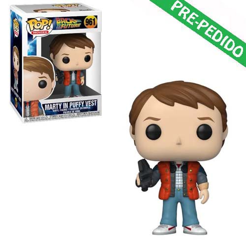 funko pop marty in puffy vest regreso al futuro