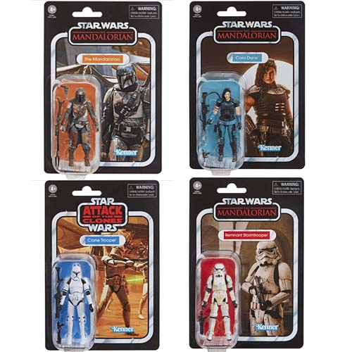 pack 4 figuras vintage star wars hasbro kenner the mandalorian