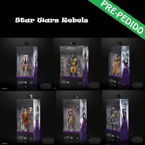 pack 6 figuras star wars rebels black series