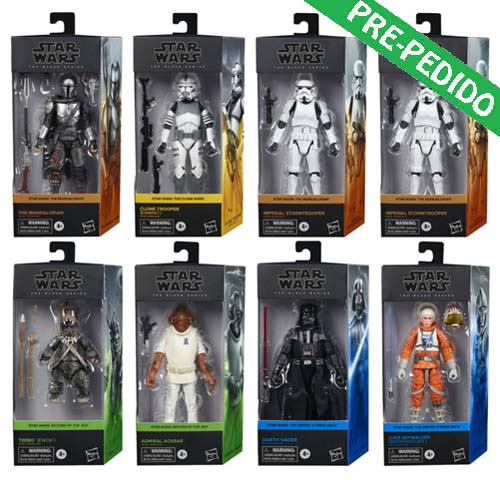 pack 8 figuras star wars black series hasbro