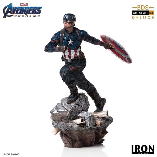 estatua capitán américa vengadores end game marvel iron studios