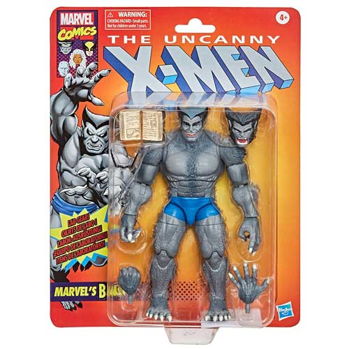 Figura Bestia X-Men Marvel Hasbro Retro