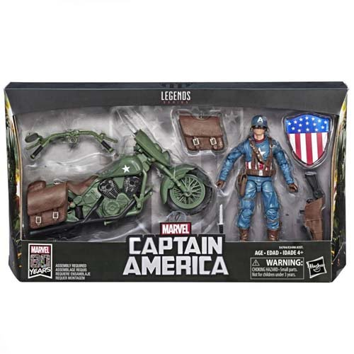 figura capitan américa con moto marvel legends