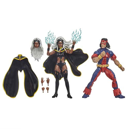 figuras marvel legends pack storm and thunderbird