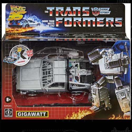 figura transformers delorean gigawat hasbro