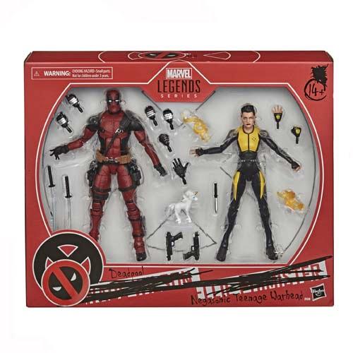 figuras marvel legdens pack deadpool and negasonic x-men