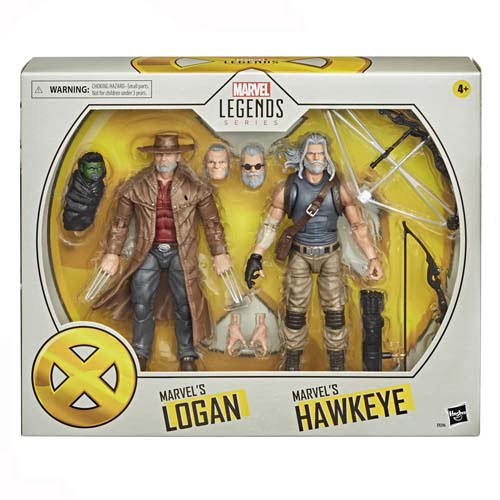 figuras marvel legends pack logan hawkeye x men