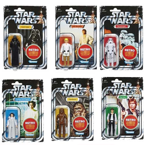 pack 6 figuras retro kenner star wars
