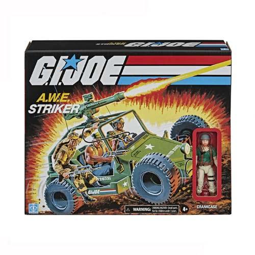 vehículo gijoe awe striker y crankcase retro hasbro