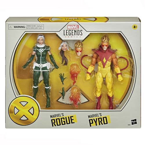 figuras marvel legends pyro and rogue x-men 20 aniversario