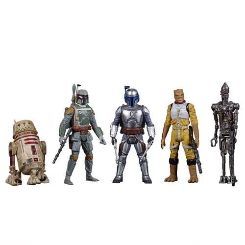 star wars celebrate the saga bounty hunters action figure set