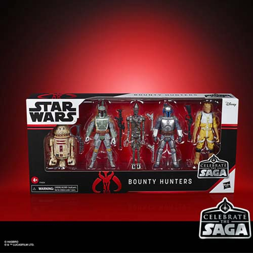 star wars celebrate the saga bounty hunters action figure set