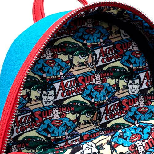 mini mochila loungefly dc comics vintage superman