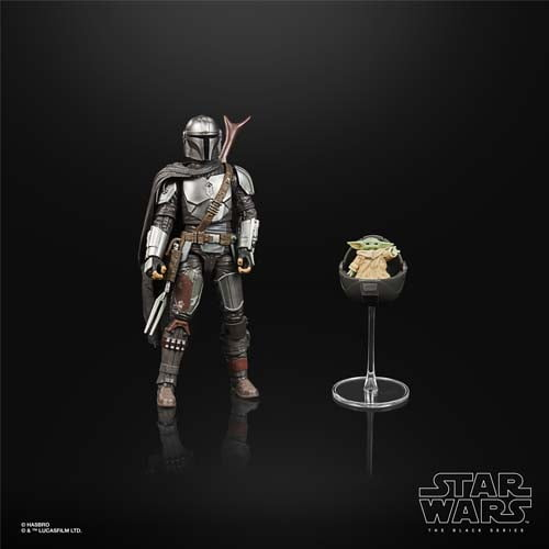 star wars black series the mandalorian with child build pack