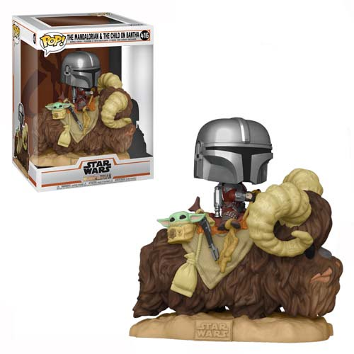 funko pop star wars the mandalorian bantha with child