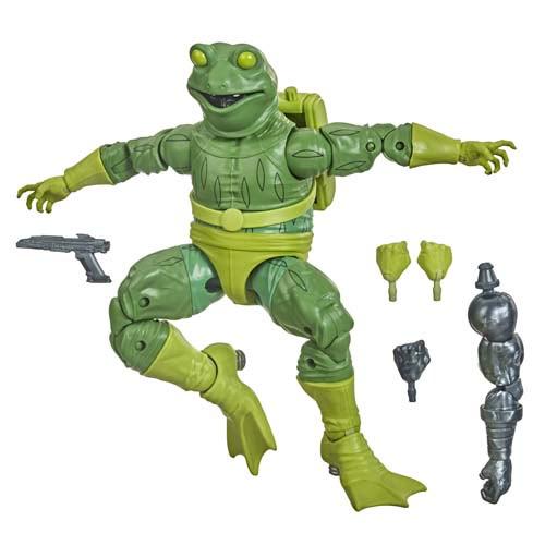 marvel legends marvel´s frog man spiderman