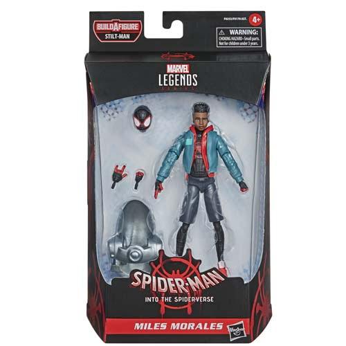marvel legends miles morales spiderman into the spider verse