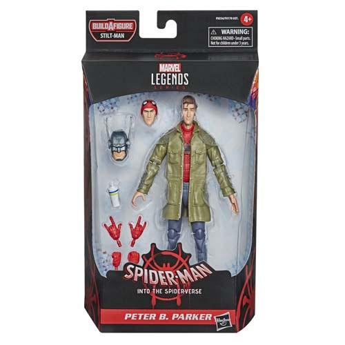marvel legends peter b. parker spiderman into the spider verse